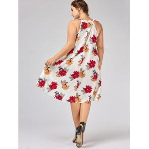 Floral Overlap Plus Size Tent Dress -