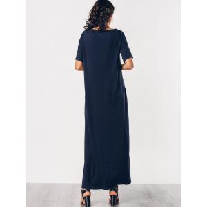 Knitting Panel Color Block Maxi Dress -
