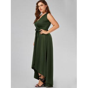 Plus Size Surplice Long High Low Formal Dress -