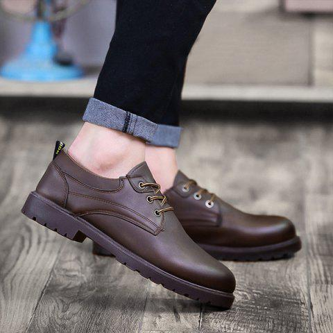 Latest Faux Leather Round Toe Casual Shoes
