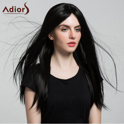 Buy Adiors Middle Part Silky Long Straight Synthetic Wig - BLACK  Mobile