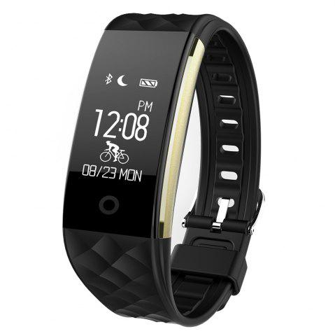 Online S2 Bluetooth Smart Bracelet with Heart Rate Monitor Notification GPS Sport Tracker Watch - BLACK  Mobile