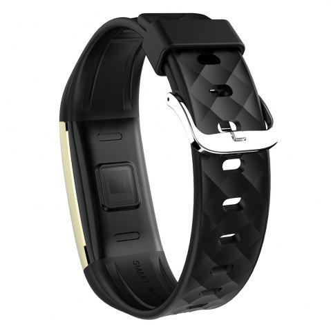 Best S2 Bluetooth Smart Bracelet with Heart Rate Monitor Notification GPS Sport Tracker Watch - BLACK  Mobile