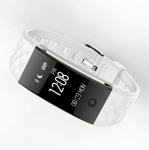Best S2 Bluetooth Smart Bracelet with Heart Rate Monitor Notification GPS Sport Tracker Watch - WHITE  Mobile