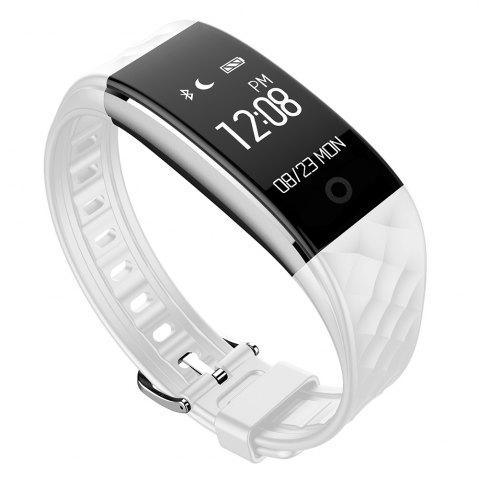 Unique S2 Bluetooth Smart Bracelet with Heart Rate Monitor Notification GPS Sport Tracker Watch - WHITE  Mobile