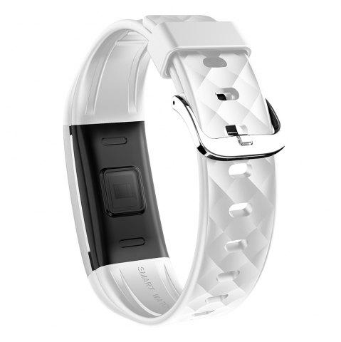 Shops S2 Bluetooth Smart Bracelet with Heart Rate Monitor Notification GPS Sport Tracker Watch - WHITE  Mobile
