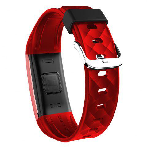 Sale S2 Bluetooth Smart Bracelet with Heart Rate Monitor Notification GPS Sport Tracker Watch - RED  Mobile