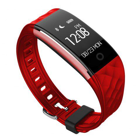 Best S2 Bluetooth Smart Bracelet with Heart Rate Monitor Notification GPS Sport Tracker Watch - RED  Mobile