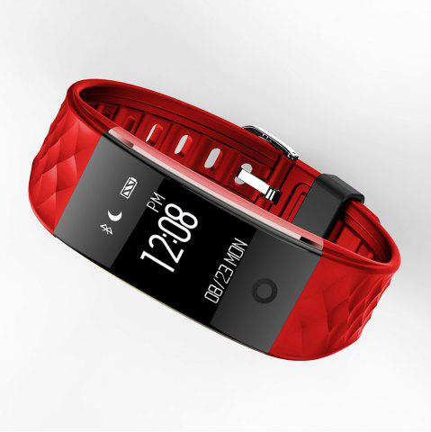Shops S2 Bluetooth Smart Bracelet with Heart Rate Monitor Notification GPS Sport Tracker Watch - RED  Mobile