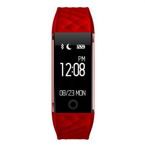 Unique S2 Bluetooth Smart Bracelet with Heart Rate Monitor Notification GPS Sport Tracker Watch - RED  Mobile