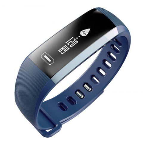 Best M2 Bluetooth Smart Bracelet with Blood Pressure Oxygen Measure Heart Rate Monitor STONE BLUE
