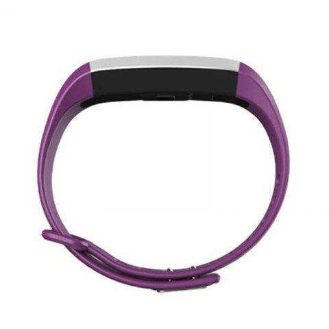 Buy M2 Bluetooth Smart Bracelet with Blood Pressure Oxygen Measure Heart Rate Monitor - PURPLE  Mobile