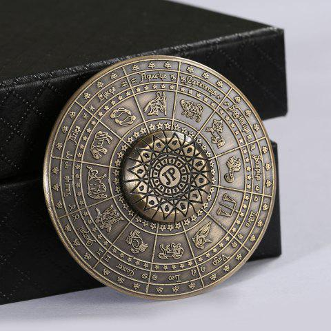 Store 12 Constellation Print Fidget Toy Alloy Hand Spinner - 5.5*5.5*1.5CM BRONZE-COLORED Mobile