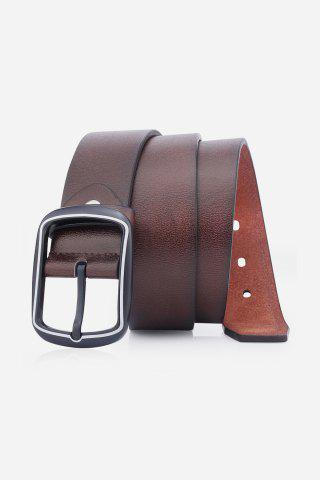 Buy Faux Leather Rectangular Pin Buckle Belt