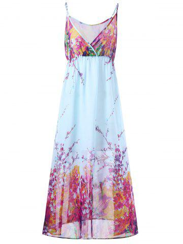 Cheap Plus Size Tiny Floral Flowy Slip Dress TUTTI FRUTTI 2XL