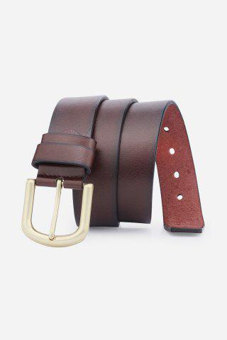 Outfits Rectangular Metallic Pin Buckle Fake Leather Belt
