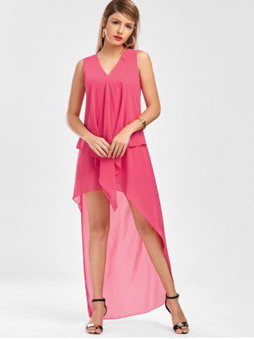 Cheap Sleeveless High Low Chiffon Dress - L TUTTI FRUTTI Mobile