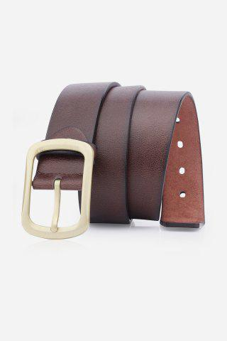 Hot Artificial Leather Retro Rectangular Pin Buckle Belt