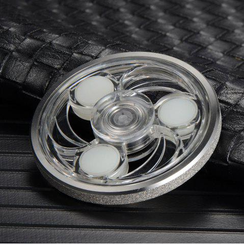 Affordable Anti Stress Glowing Wheel Shape Fidget Spinner - SILVER WHITE  Mobile