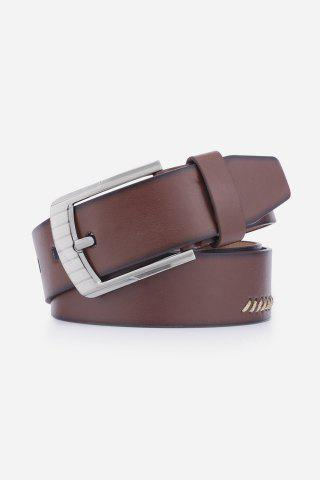 Shops Pin Buckle Retro Sewing Thread Wide Belt - COFFEE  Mobile