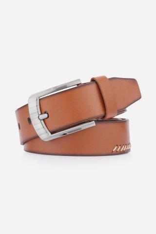 Hot Pin Buckle Retro Sewing Thread Wide Belt - BROWN  Mobile