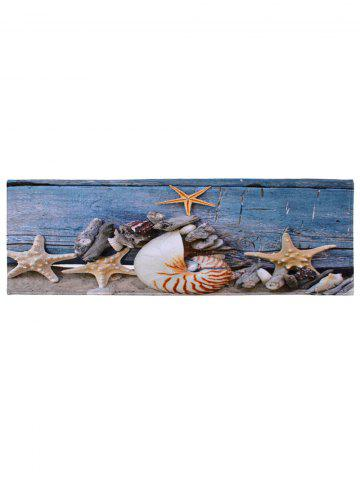 New Conch Starfish Coral Velvet Skidproof Bath Rug - W16 INCH * L47 INCH BLUE GRAY Mobile
