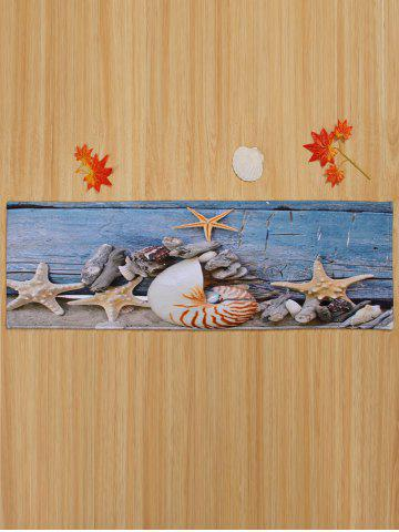 Affordable Conch Starfish Coral Velvet Skidproof Bath Rug - W16 INCH * L47 INCH BLUE GRAY Mobile