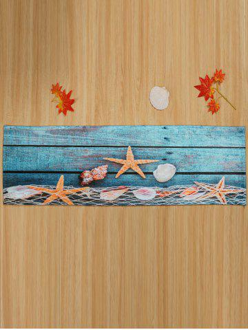 Discount Starfish Shell Large Size Coral Fleece Bath Rug - W24 INCH * L71 INCH LAKE BLUE Mobile