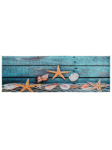 Outfits Starfish Shell Large Size Coral Fleece Bath Rug - W24 INCH * L71 INCH LAKE BLUE Mobile