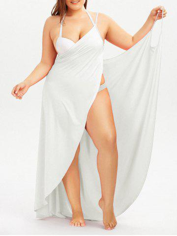 Trendy Plus Size Cover Up Beach Wrap Dress