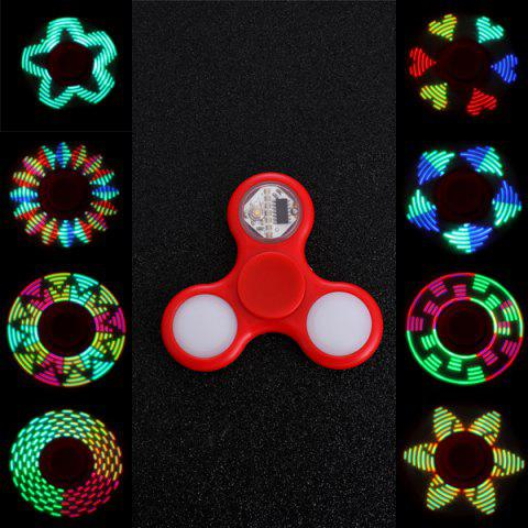Discount EDC Stress Reliever Fidget Spinner with 16 Pattern LED Light - RED  Mobile