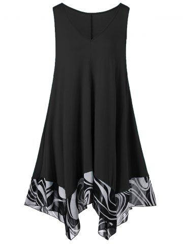 Online Handkerchief Mini Short Flowy Plus Size Dress
