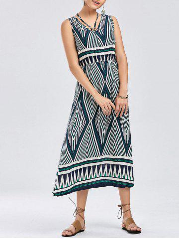 Trendy Bohemian Geometric Print Dress