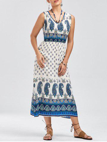 New Bohemian Tribal Paisley Sleeveless Dress