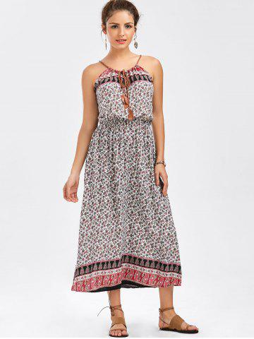 New Spaghetti Strap Tiny Floral Print Dress - ONE SIZE COLORMIX Mobile