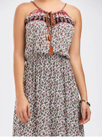 Outfit Spaghetti Strap Tiny Floral Print Dress - ONE SIZE COLORMIX Mobile