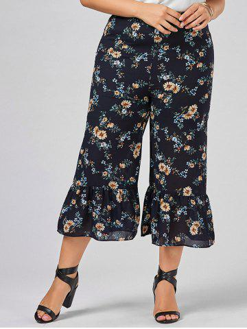 Buy Plus Size Floral Wide Leg Pants - 2XL COLORMIX Mobile