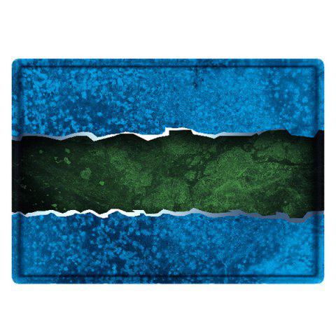 Outfits Color Block Water Absorbing Bathroom Floor Mat - W16 INCH * L24 INCH BLUE Mobile