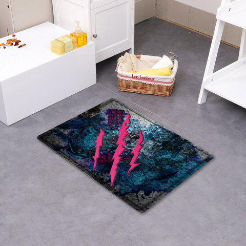 Outfits Claw Mark Pattern Water Absorbing Bathroom Floor Mat - W16 INCH * L24 INCH COLORMIX Mobile