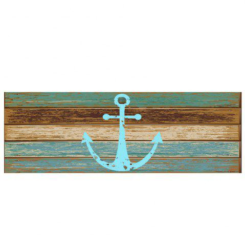 Discount Deck Anchor Pattern Water Absorption Indoor Outdoor Area Rug - W16 INCH * L47 INCH CYAN Mobile