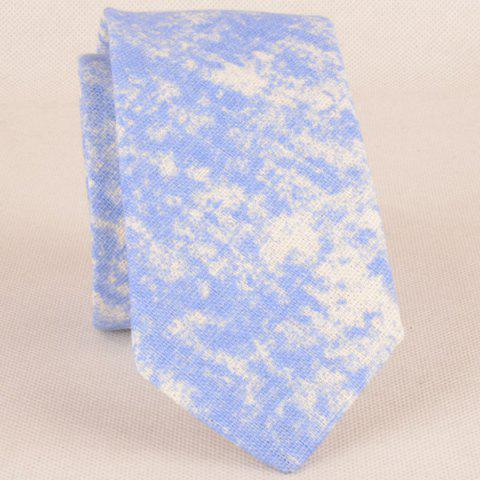 Outfit Striation Printing Tie Handkerchief Bowtie Set - WINDSOR BLUE  Mobile