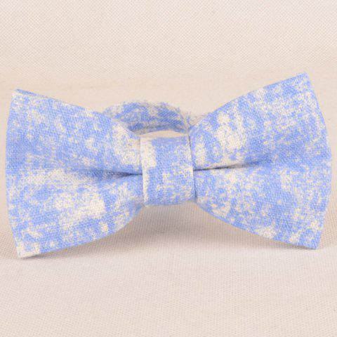 Outfits Striation Printing Tie Handkerchief Bowtie Set - WINDSOR BLUE  Mobile