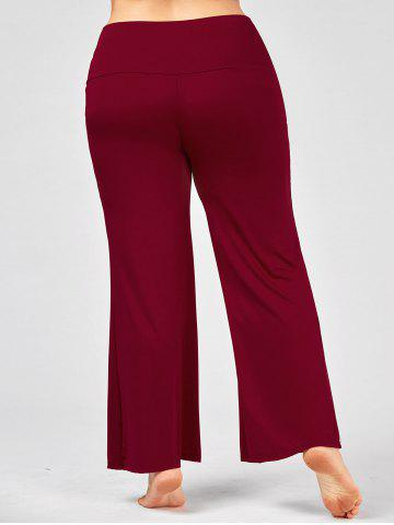 Shops Plus Size Maxi High Rise Palazzo Pants - 3XL DEEP RED Mobile