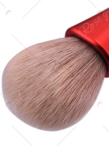 Sale 5Pcs Waterdrop Waisted Makeup Brushes Set - RED  Mobile