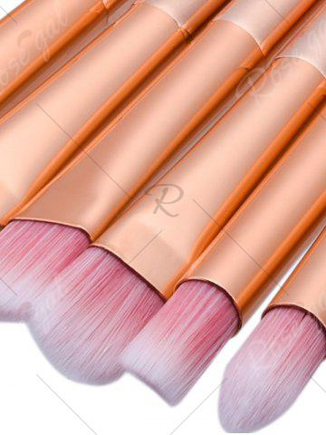 Sale Diamond Shaped Ombre Fan Eye Makeup Brushes Set - PINK  Mobile