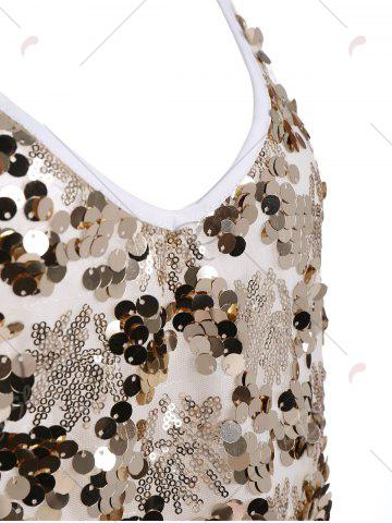 Outfit Sequin Glitter Shiny Slip Club Dress - XL GOLDEN Mobile