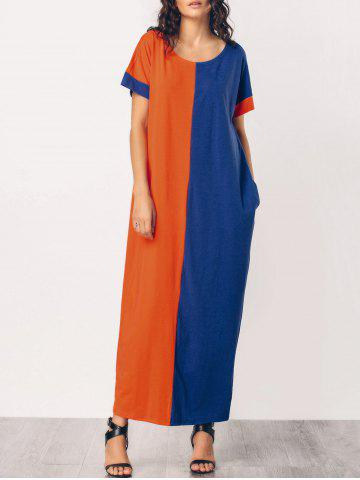 Best Two Tone Middle East Casual Maxi Dress