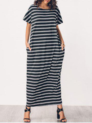 Striped Casual Middle Eest Maxi Dress