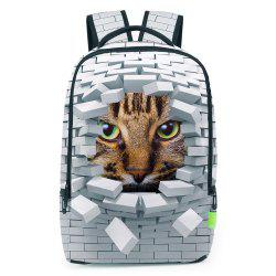 Broken Wall 3D Print Backpack - WHITE