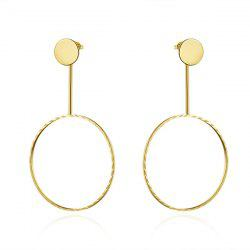 Circle Gold Plated Alloy Drop Earrings